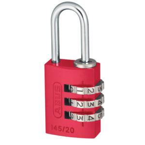 145/20 20mm Aluminium Combination Padlock Red 46569
