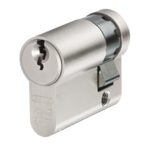 E60NP Euro Half Cylinder Nickel Pearl 10mm / 30mm Visi