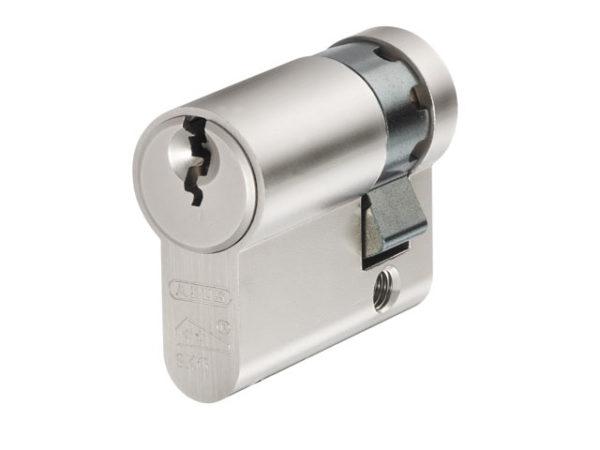 E60NP Euro Half Cylinder Nickel Pearl 10mm / 35mm Visi