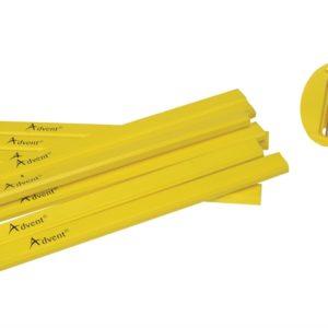 Carpenter's Pencils (Tub of 10 + Sharpener)