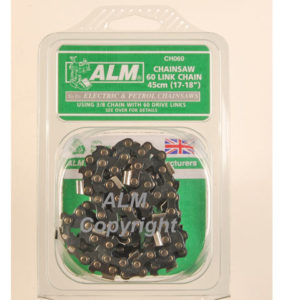 CH060 Chainsaw Chain 3/8in x 60 links 1.3mm - Fits 45cm Bars