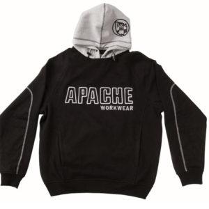 Hooded Sweatshirt Black / Grey - M (42in)
