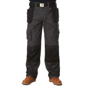 Black & Grey Holster Trousers Waist 38in Leg 33in