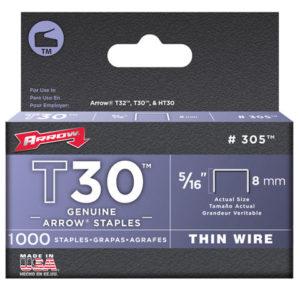 T30 Staples 305IP 8mm (5/16in) Box 5000