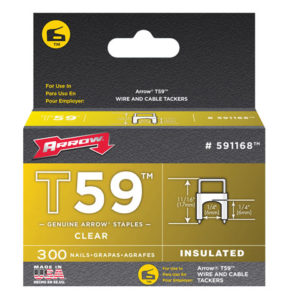 T59 Insulated Staples Clear 6 x 6mm Box 300