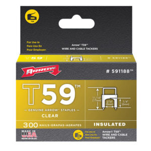 T59 Insulated Staples Clear 6 x 8mm Box 300