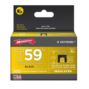 T59 Insulated Staples Black 8 x 8mm Box 300