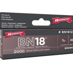 BN1812B Brad Nails 20mm Brown Head Pack 2000