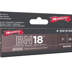 BN1816B Brad Nails 25mm Brown Head Pack 2000