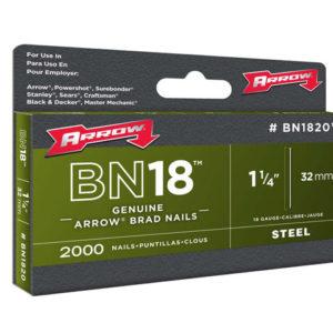 BN1824 Brad Nails 38mm 18g Pack 1000