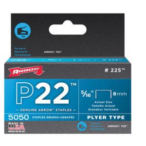P22 Staples 8mm ( 5/16in) Box 5050