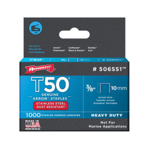 T50 Staples Stainless Steel 505SS 8mm ( 5/16in) Box 1000