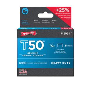 T50™ Staples 6mm (1/4in) Box 1250