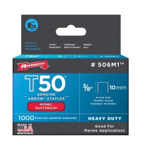 T50M 506m Monel Staples 10mm (3/8in) Box 1000