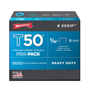 T50 Staples 8mm (5/16in) Pack 5000 (4 x 1250)