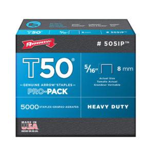 T50 Staples 8mm (5/16in) Box 1250