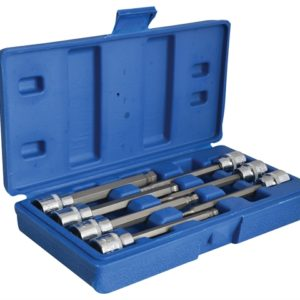 3/8in Drive Extra Long Hex Ball Socket Bit Set