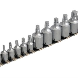 Torx Socket Set of 12 1/4 & 3/8in Square Drive
