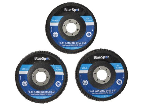 Sanding Flap Disc Set 3 Piece 115mm (4.1/2in)