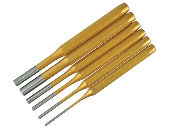 Gold Pin Punch Set 6 Piece