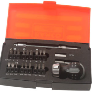 808050S-22 Stubby Ratchet Screwdriver Set 22 Piece