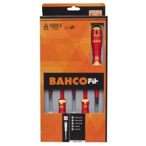 BAHCOFIT Insulated Screwdriver Set of 5 SL/PZ
