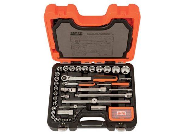 S95 1/4in & 1/2in Drive Socket & Mech Set of 95 Metric