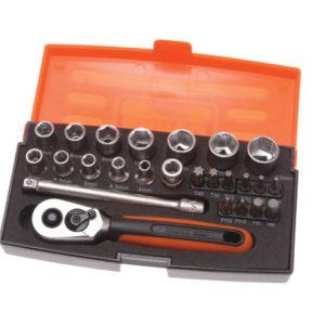 SL25 Socket Set of 25 Metric 1/4in Drive