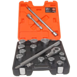 SLX17 Socket Set of 17 Metric 3/4in Drive
