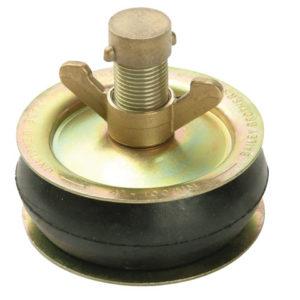 2416 Drain Test Plug 100mm (4in) - Brass Cap