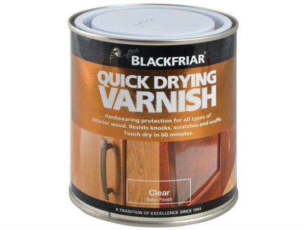 Quick Drying Duratough Interior Varnish Clear Satin 250ml