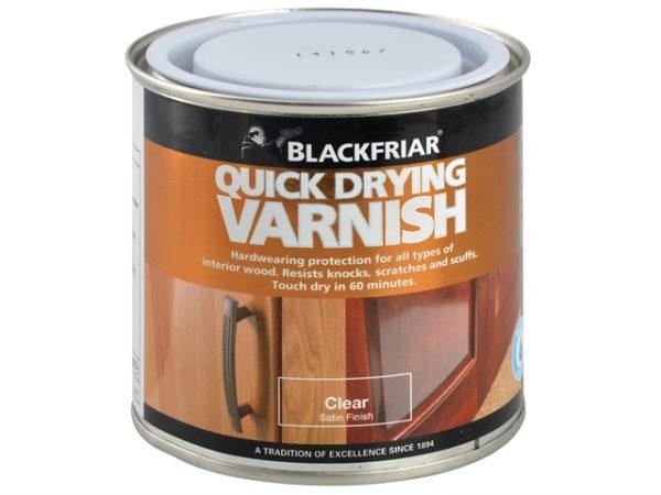Quick Drying Duratough Interior Varnish Clear Satin 500ml