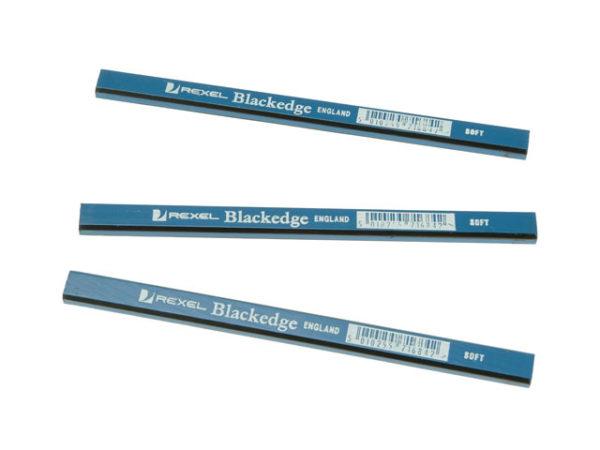 Carpenter's Pencils - Blue / Soft Card of 12