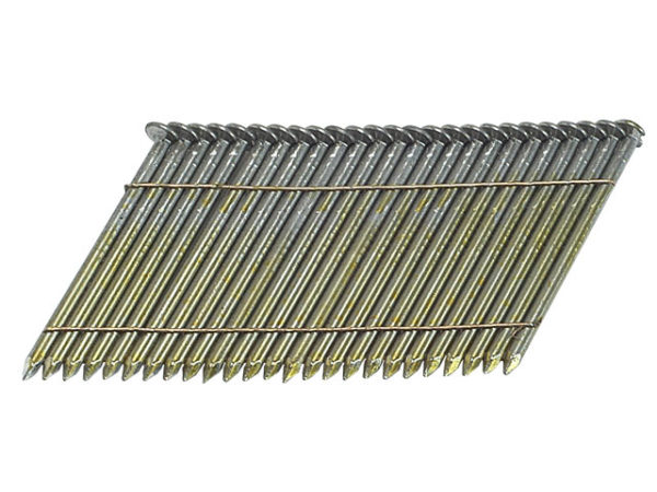 28° Bright Ring Shank Stick Nails 3.1 x 90mm Pack of 2000