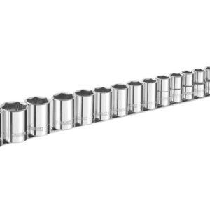 Socket Set of 16 Metric 1/2in Drive