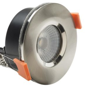 LED Fire Rated Anti-Glare Downlight 3.8W Satin Nickel 240V