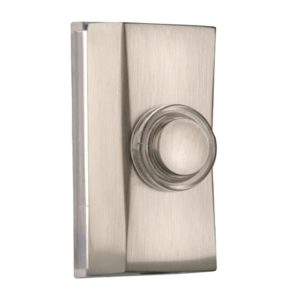 7960 Wired Doorbell Additional Chime Bell Push Brushed Nickel