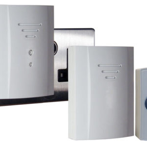 B322 Wireless Doorbell Kit with Portable & Plug In Chimes 50m