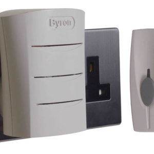 BY102 Wireless Doorbell with Plug In Chime 60m