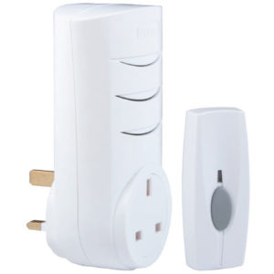 BY103 Wireless Doorbell with Plug Through Chime 60m