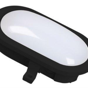 GOL-001-HB LED Oval Bulkhead Black 5.5 Watt 550 Lumen