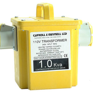 2250/2 Transformer Twin Outlet Rating 2.25kVA Continuous 1.125kVA