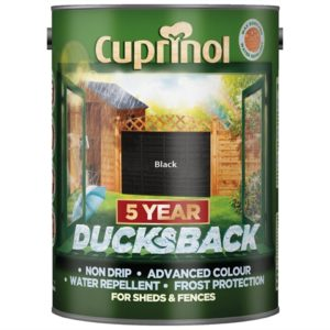 Ducksback 5 Year Waterproof for Sheds & Fences Black 5 Litre