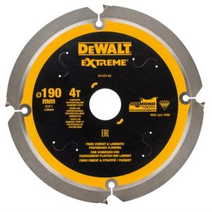 Extreme PCD Fibre Cement Saw Blade 190 x 30mm x 4T