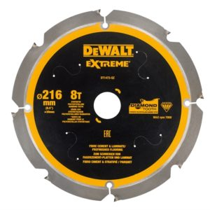 Extreme PCD Fibre Cement Saw Blade 216 x 30mm x 8T