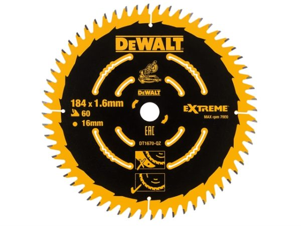 Cordless Mitre Saw Blade For DCS365 184 x 16mm x 60T