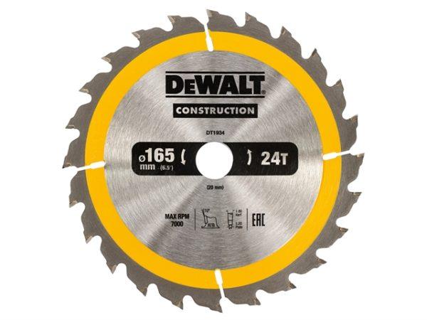 Portable Construction Circular Saw Blade 165 x 20mm x 24T