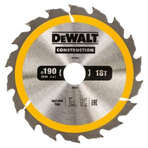 Portable Construction Circular Saw Blade 190 x 30mm x 18T