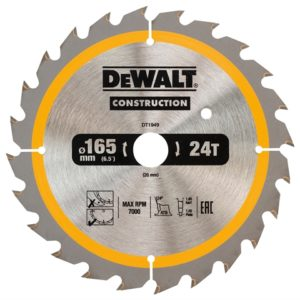 Cordless Construction Trim Saw Blade 165 x 20mm x 24T