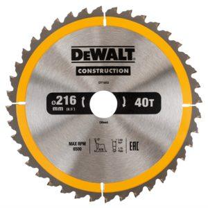Stationary Construction Circular Saw Blade 216 x 30mm x 40T ATB/Neg